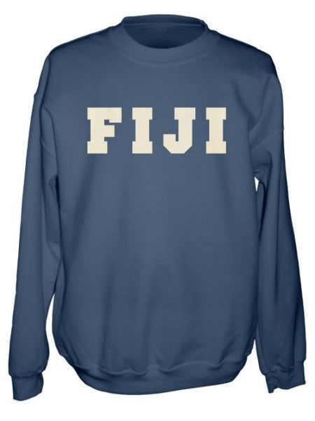 Phi Gamma Delta Crewneck Sweatshirt with Sewn-On Letters