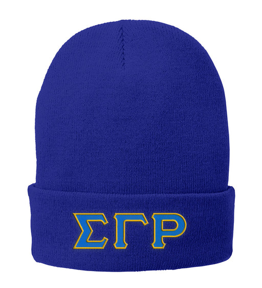 Sigma Gamma Rho Lettered Knit Cap
