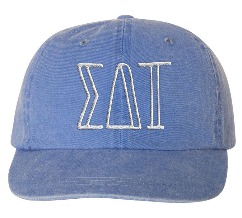 Sigma Delta Tau Sorority Greek Carson Embroidered Hat