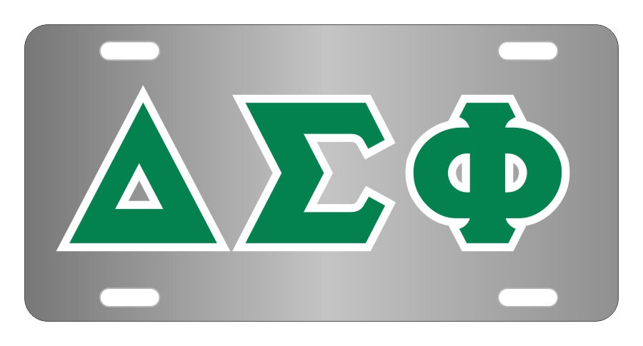 Delta Sigma Phi Fraternity License Plate Cover