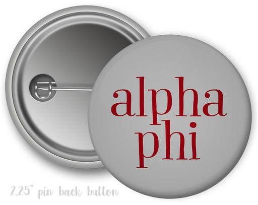 Alpha Phi Simple Text Button