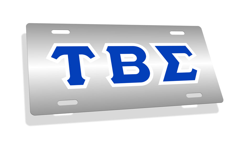 Tau Beta Sigma Fraternity License Plate Cover