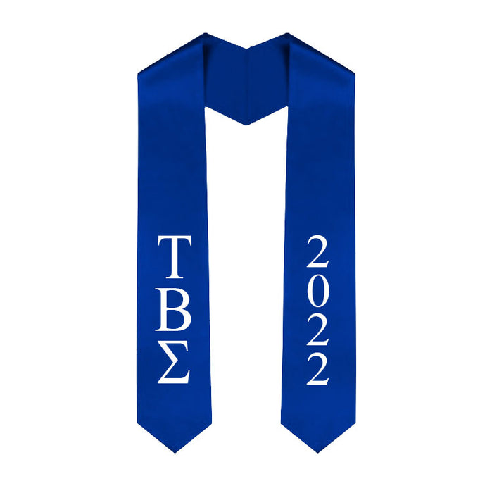 Tau Beta Sigma Vertical Grad Stole with Letters & Year