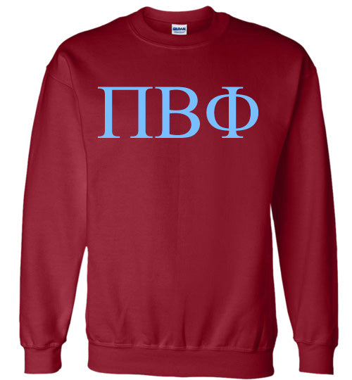 Pi Beta Phi World Famous Lettered Crewneck Sweatshirt