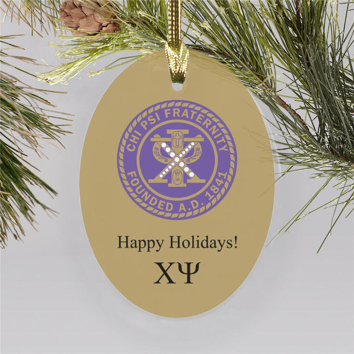 Chi Psi Color Crest Ornament