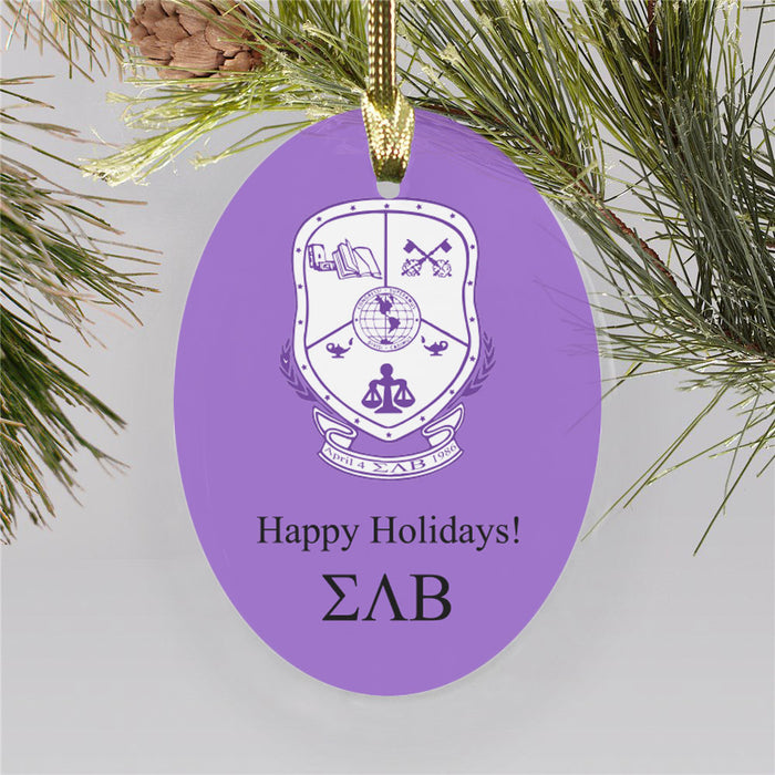 Sigma Lambda Beta Color Crest Ornament