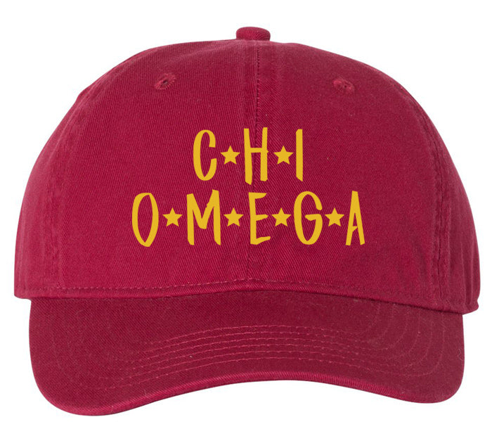 Chi Omega Starry Night Hat