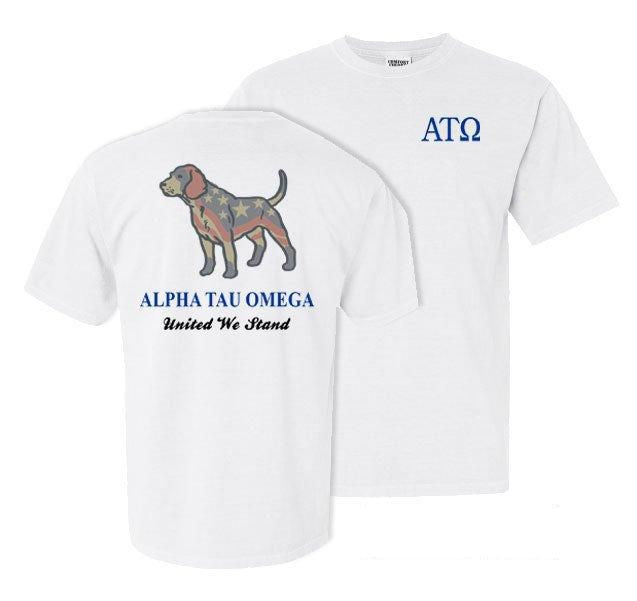 Alpha Tau Omega Stand Tall Comfort Colors Heavy Tee