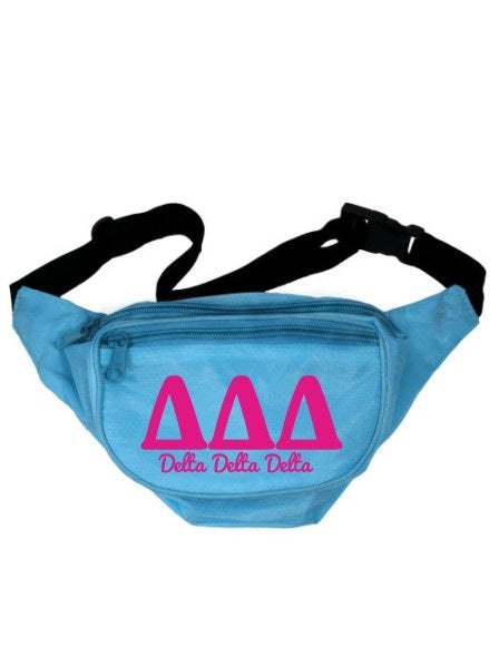 Delta Delta Delta Letters Layered Fanny Pack