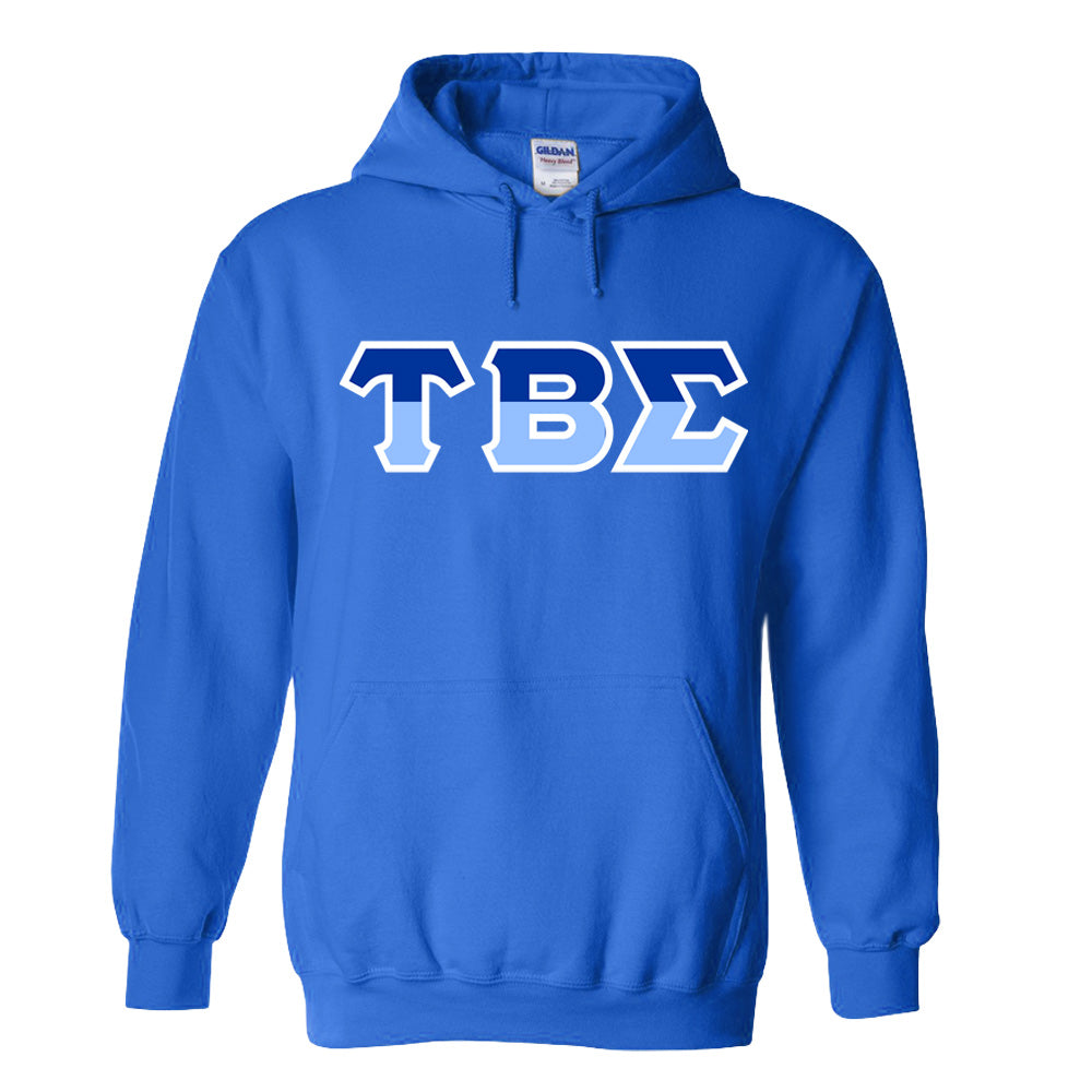 Tau Beta Sigma Two Toned Lettered Hooded Sweatshirt