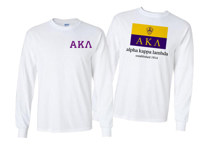 Alpha Kappa Lambda Long Sleeve Flag Tee
