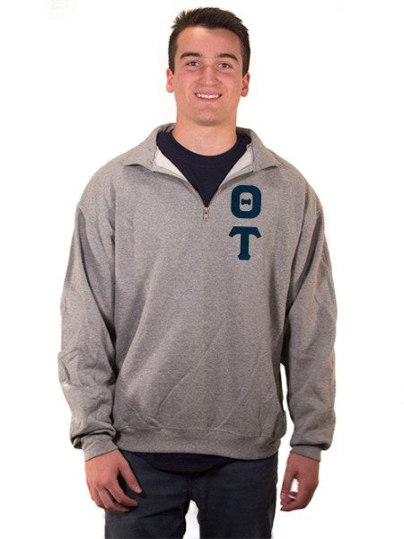 Theta Tau Quarter-Zip with Sewn-On Letters
