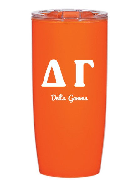 Delta Gamma Letters Layered 19 oz Everest Tumbler