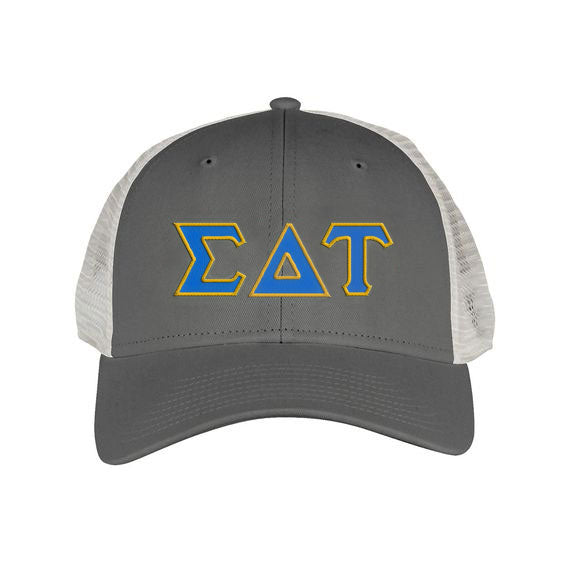 Sigma Delta Tau Greek Trucker Cap