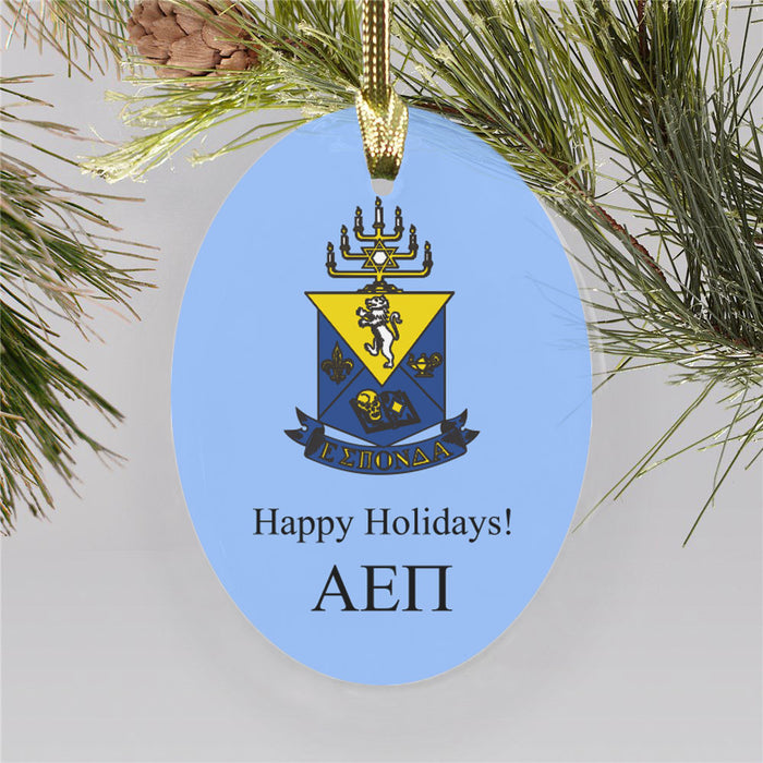 Alpha Epsilon Pi Color Crest Ornament