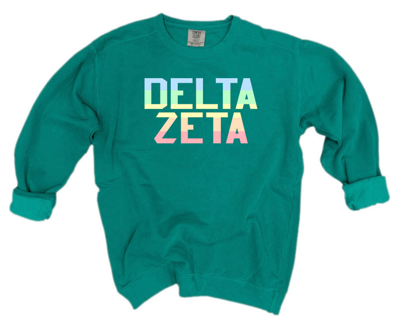 Delta Zeta Comfort Colors Pastel Sorority Sweatshirt