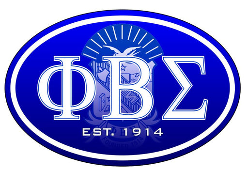 Phi Beta Sigma Color Oval Decal