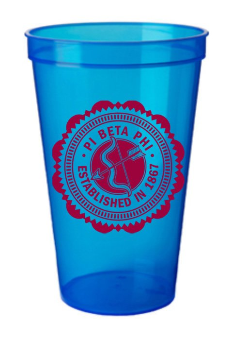 Pi Beta Phi Classic Oldstyle Giant Plastic Cup