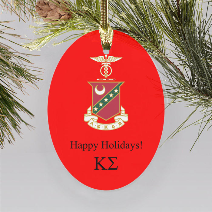 Kappa Sigma Color Crest Ornament