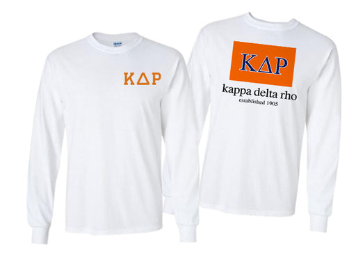 Kappa Delta Rho Long Sleeve Flag Tee