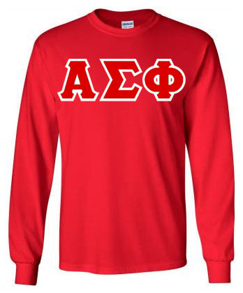 Alpha Sigma Phi Long Sleeve Greek Lettered Tee