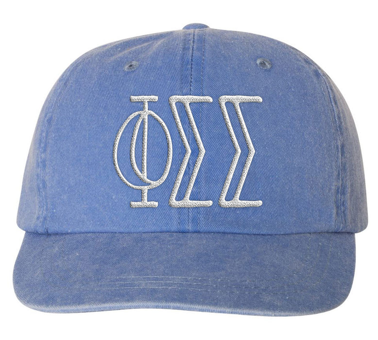 Phi Sigma Sigma Sorority Greek Carson Embroidered Hat