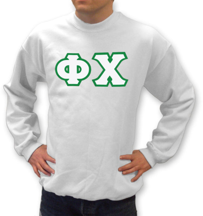 Phi Chi Classic Colors Sewn-On Letter Crewneck