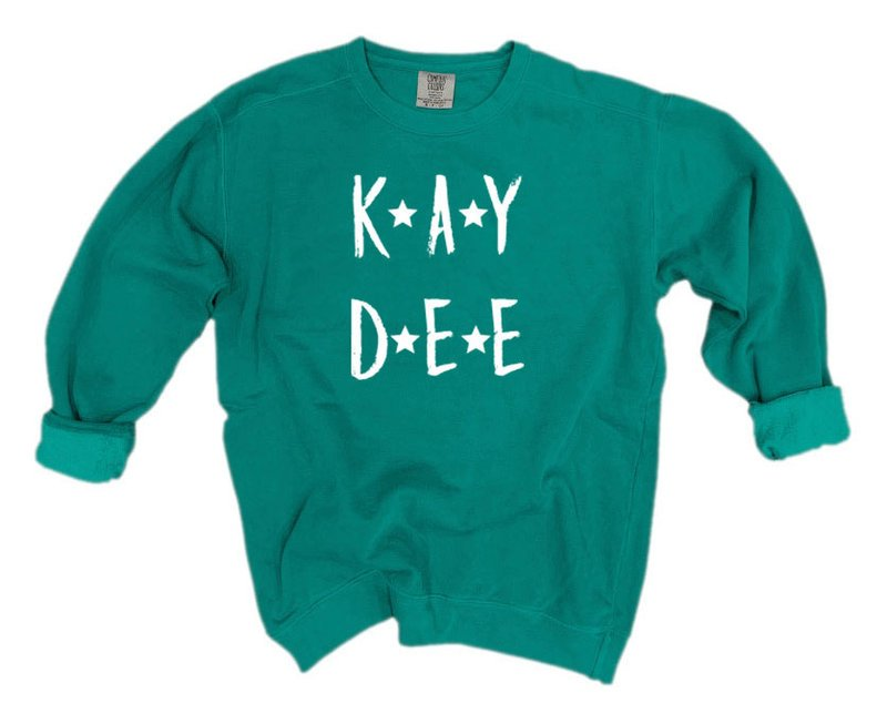 Kappa Delta Comfort Colors Starry Nickname Sorority Sweatshirt