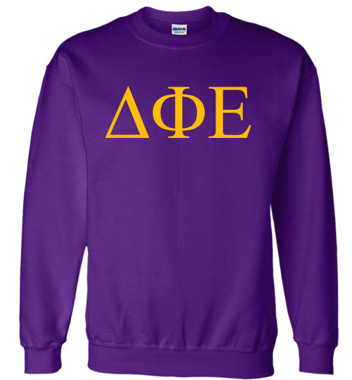 Delta Phi Epsilon World Famous Lettered Crewneck Sweatshirt