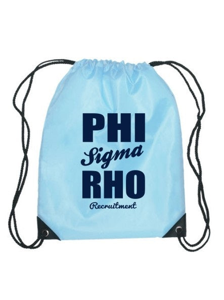 Phi Sigma Rho Cursive Impact Sports Bag