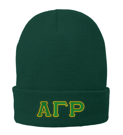 Alpha Gamma Rho Lettered Knit Cap