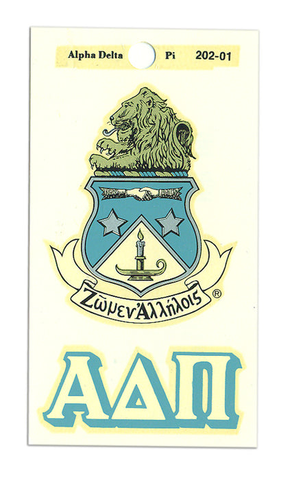Alpha Delta Pi Crest Decals Crest Decal