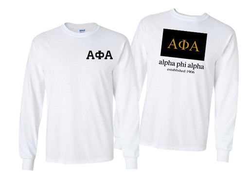 Alpha Phi Alpha Long Sleeve Flag Tee