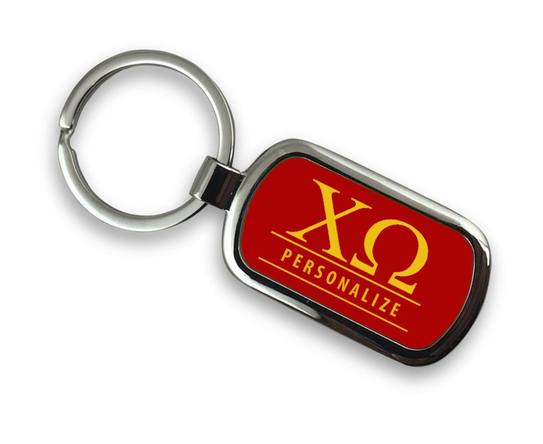 Chi Omega Chrome Key Chain