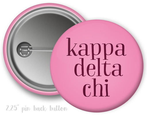 Kappa Delta Chi Simple Text Button