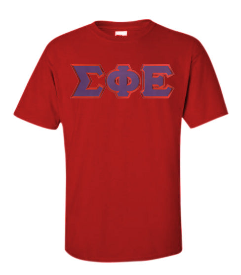 Sigma Phi Epsilon Lettered T Shirt