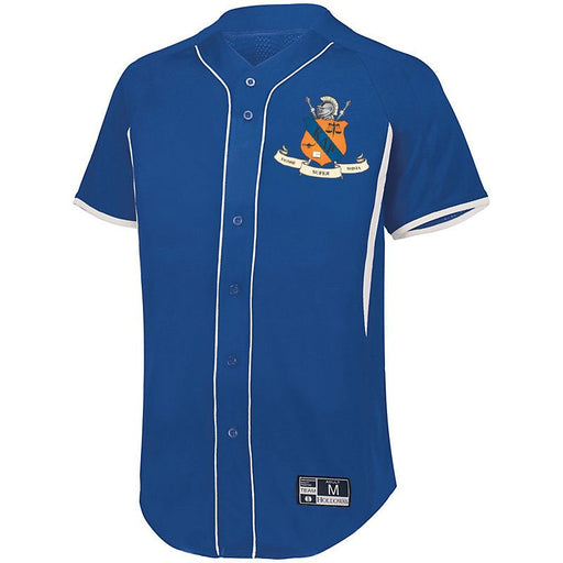 Kappa Delta Rho 7 Full Button Baseball Jersey