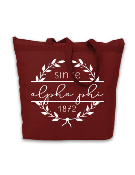 Alpha Phi Since Established Tote