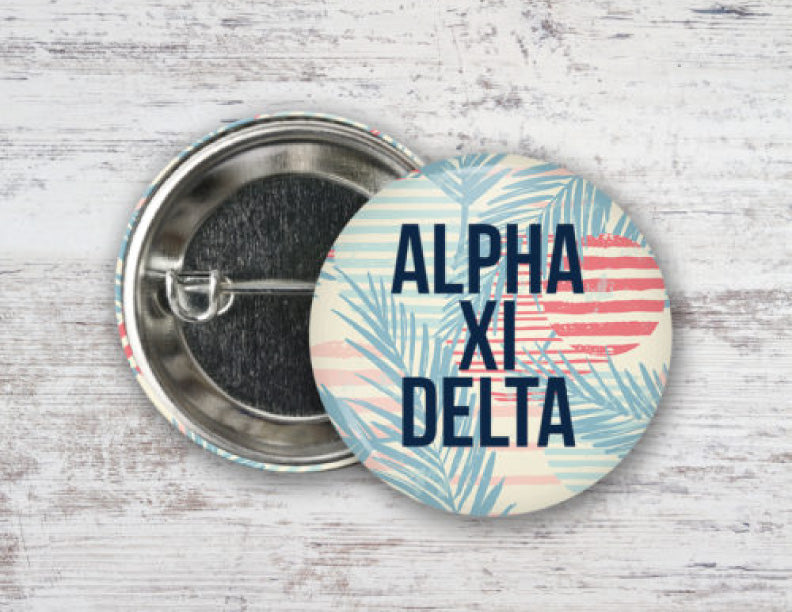 Alpha Xi Delta Paradise Found Button