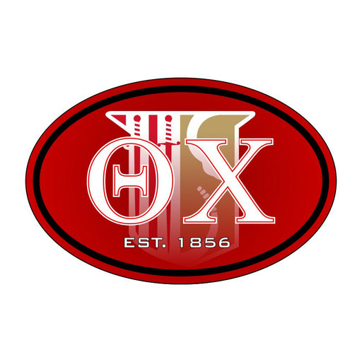 Theta Chi Color Oval Decal