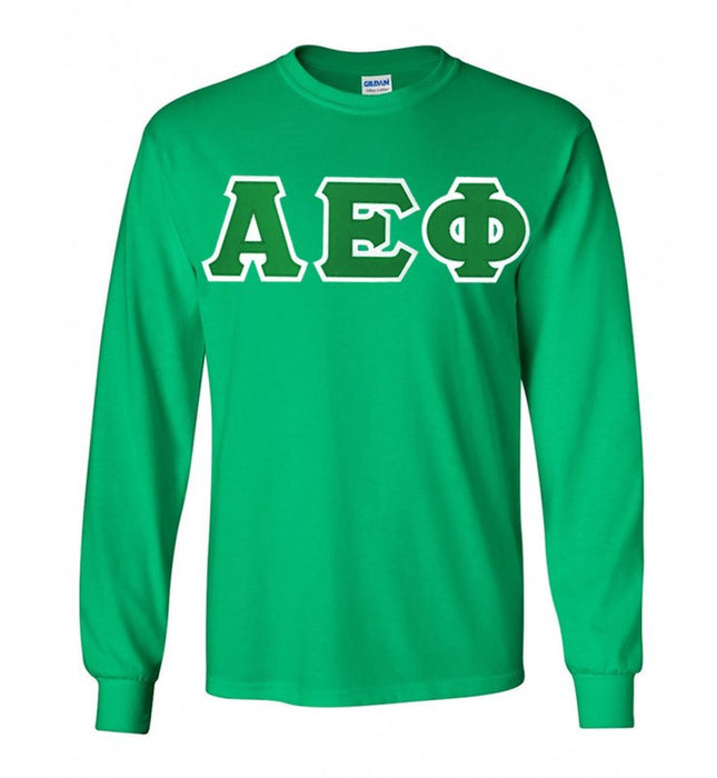 Alpha Epsilon Phi Long Sleeve Greek Lettered Tee