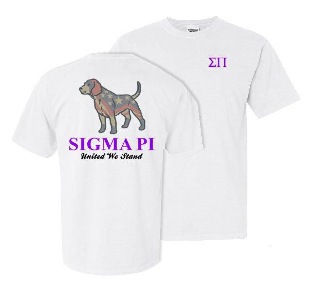 Sigma Pi Stand Tall Comfort Colors Heavy Tee
