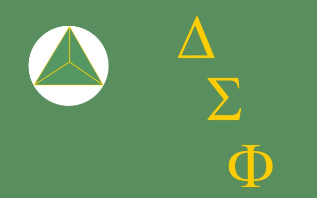 Delta Sigma Phi Fraternity Flag Sticker
