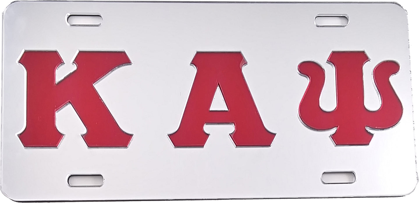 Kappa Alpha Psi Mirrored License Plate Cover