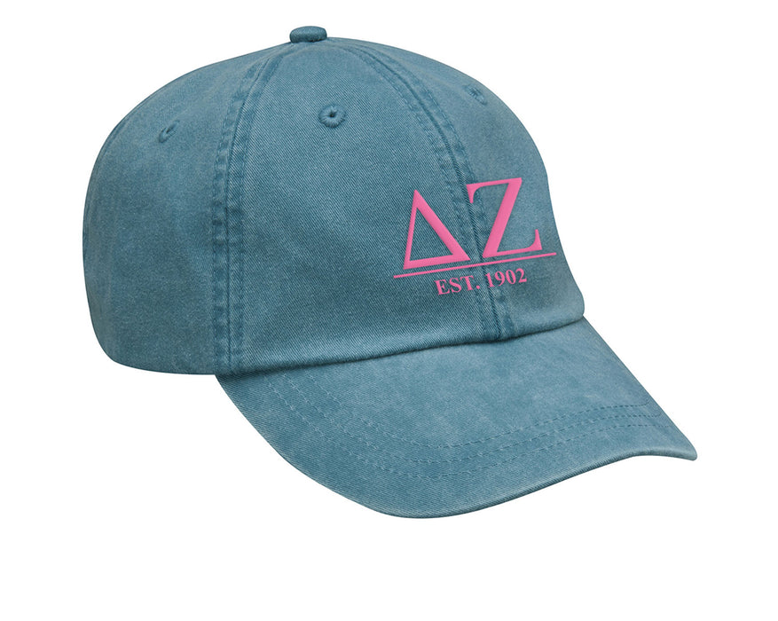 Delta Zeta Letters Year Embroidered Hat
