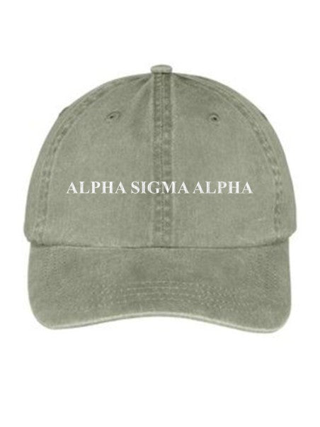 Alpha Sigma Alpha Embroidered Hat