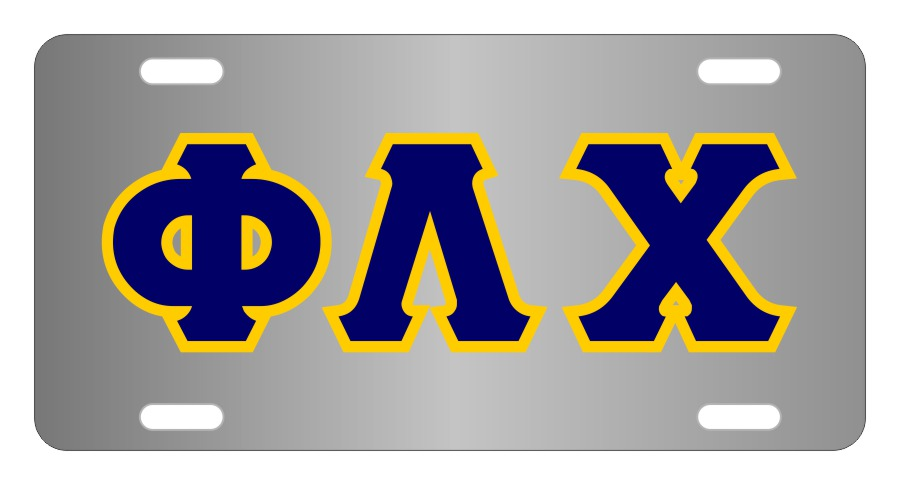 Phi Lambda Chi Fraternity License Plate Cover