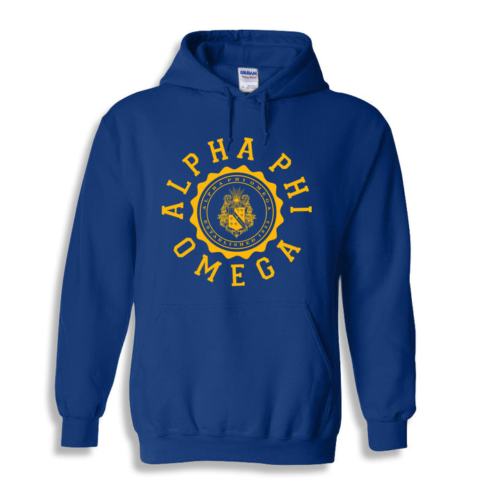 Alpha Phi Omega World Famous Seal Crest Hoodie