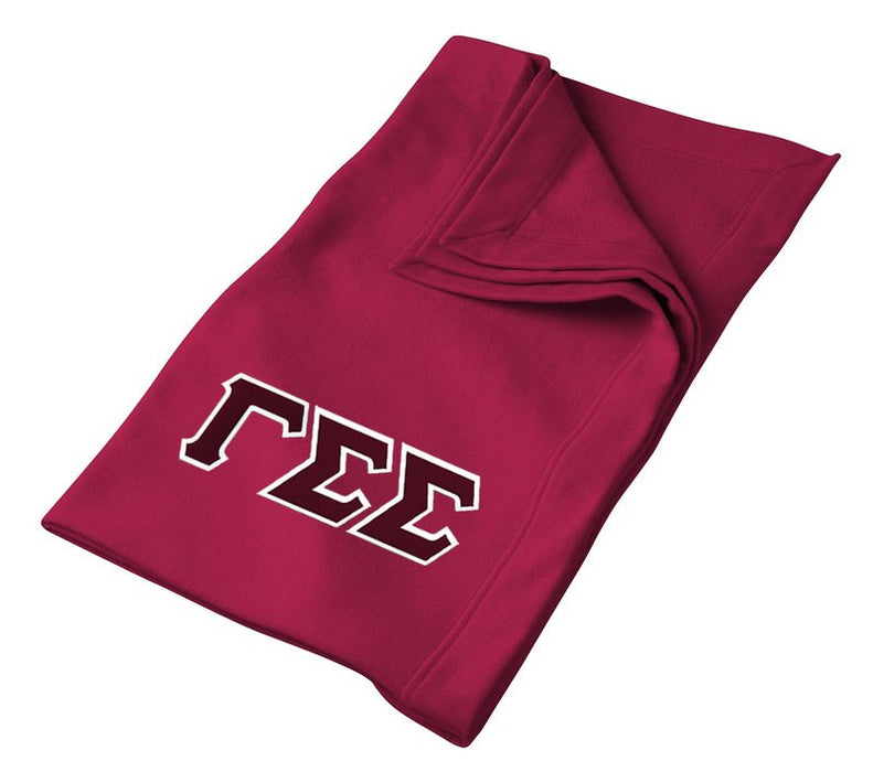 Gamma Sigma Sigma Greek Twill Lettered Sweatshirt Blanket