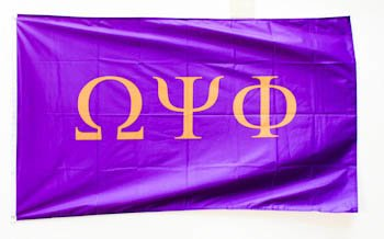 Omega Psi Phi Big Letter Flag
